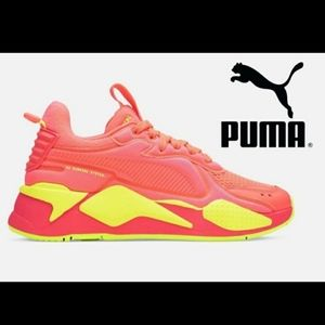 PUMA RS-X Softcase Neon Pink Yellow Sneakers